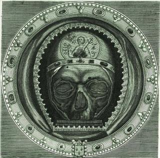 Gravure représentant le Chef de saint Jean Baptiste, conservé à la cathédrale d'Amiens