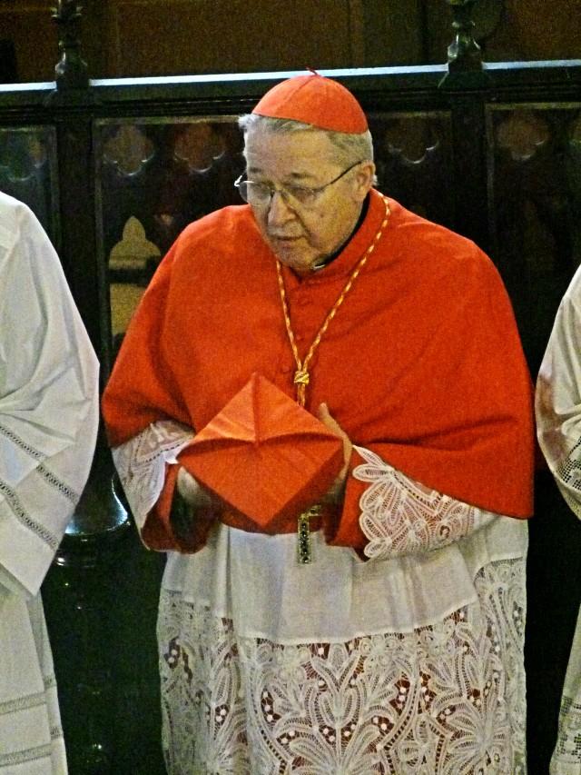 Son Eminence André, cardinal Vingt-Trois, à Saint-Eugène le 16 mars 2014
