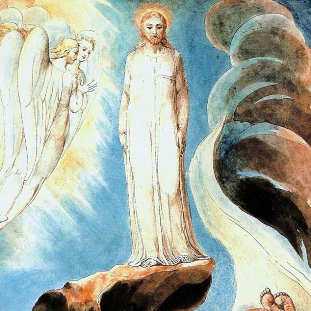 William Blake - la troisième tentation du Christ