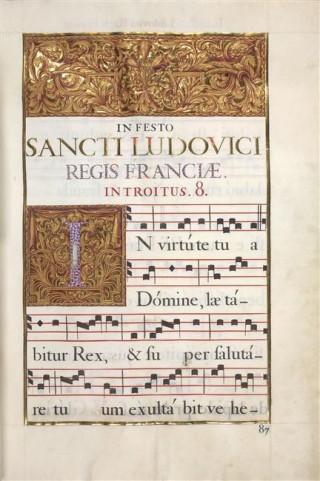 Antiphonaire des Invalides - messe de la fête de saint Louis - 01