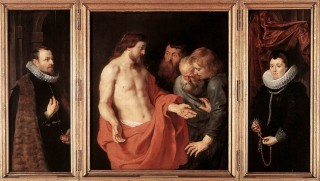 L'apparition du Christ ressuscité à saint Thomas par Rubens
