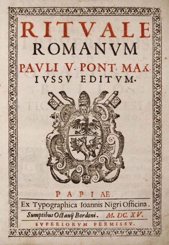 Rituale Romanum - Edition de 1614