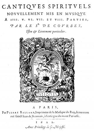 Charles de Courbes - Cantiques spirituels - 1622