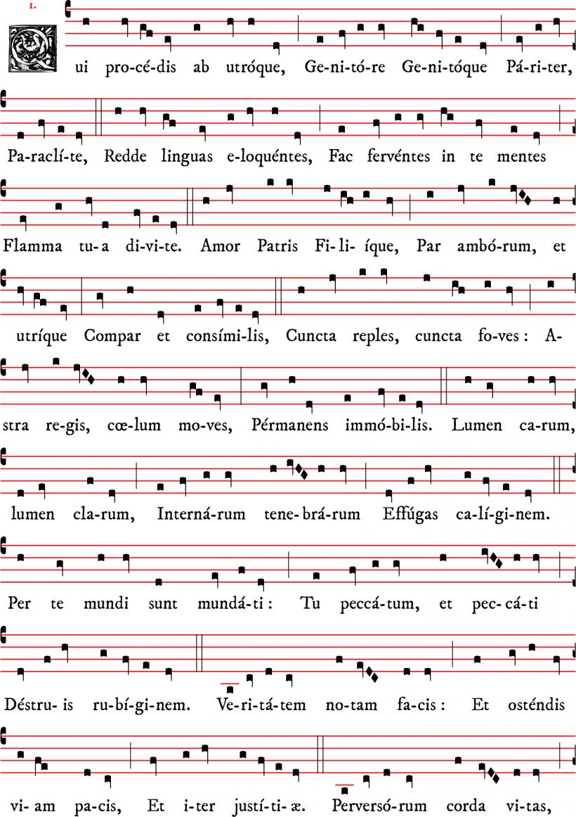 Prose Qui procedis ab utroque au Saint-Esprit d'Adam de Saint-Victor