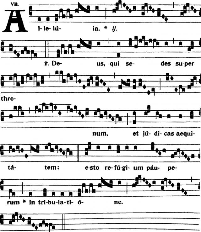 Alleluia - Deus qui sedes - ton 7