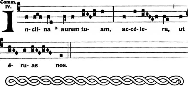 Communion - Inclina aurem tuam - ton 4