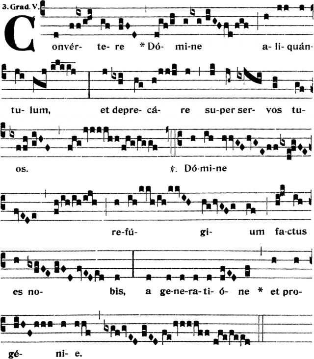 Graduel - Convertere Domine aliquantulum - ton 5