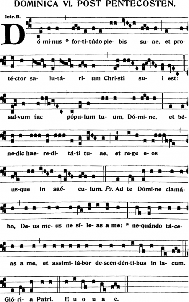 Introït - Dominus fortitudo plebis suæ - ton 2