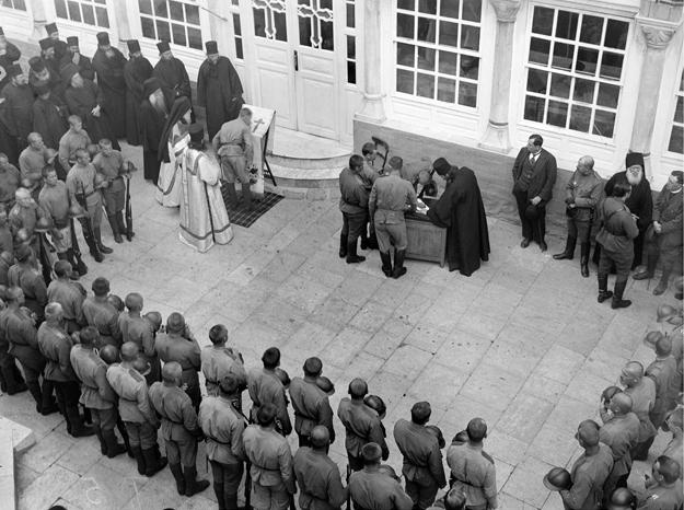 1916 - Prestation de serment des soldats du corps expéditionnaire russe au Mont-Athos