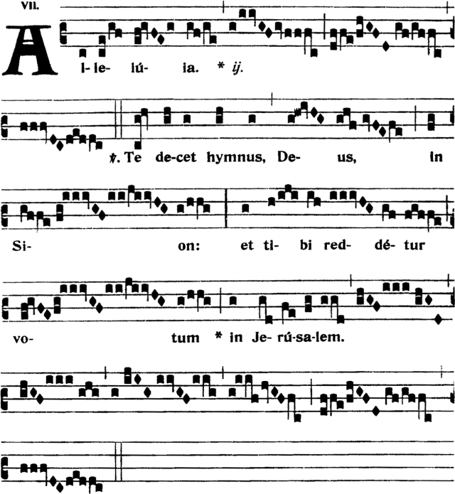 Alleluia - Te decet hymnus - ton 7