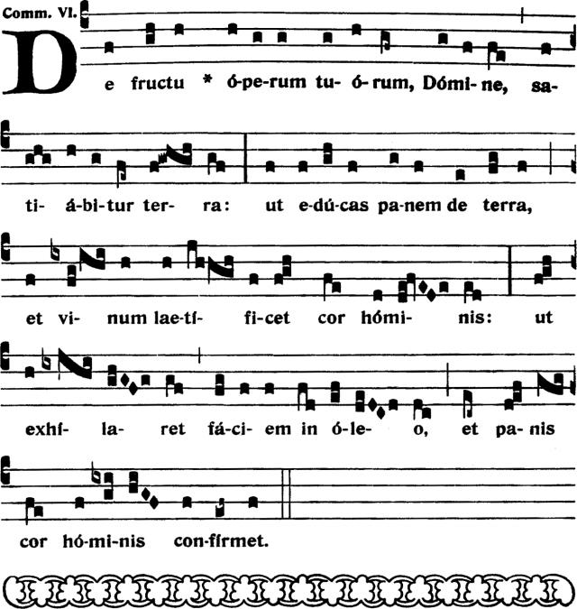 Communion - De fructu operum tuorum - ton 6