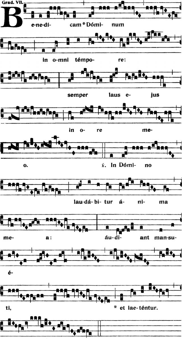 Graduel - Benedicam Dominum in omni tempore - ton 7