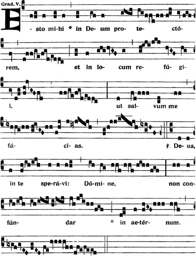 Graduel - Esto mihi in Deum protectorem - ton 5
