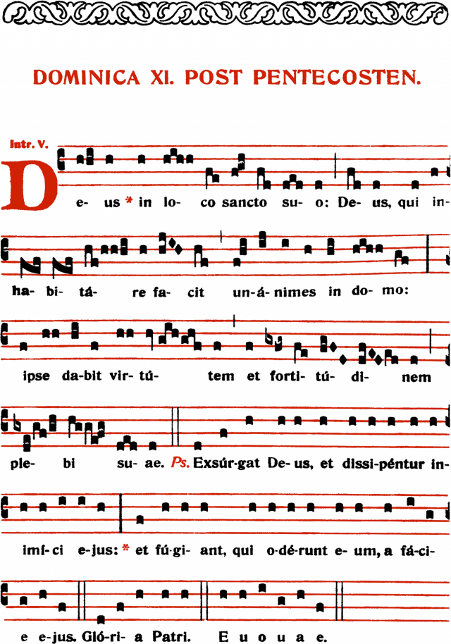 Introït - Deus in loco sancto suo - ton 5