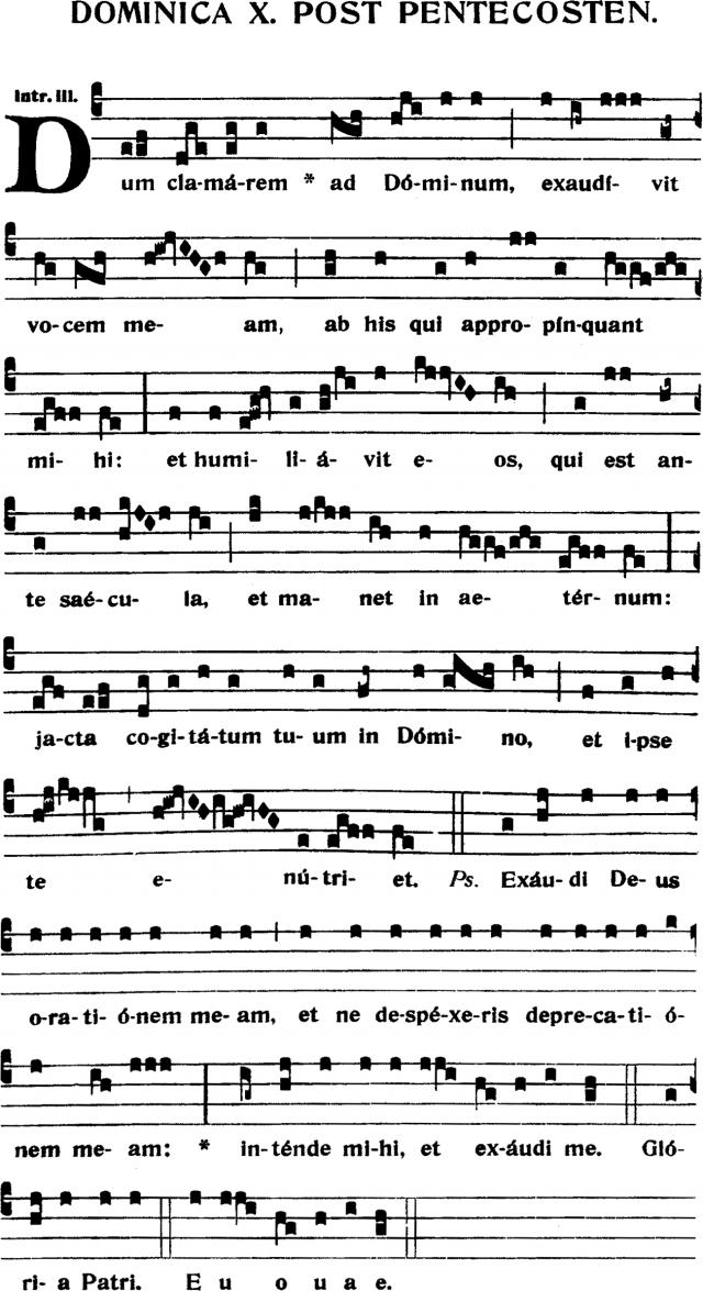 Introït - Dum clamarem ad Dominum - ton 3