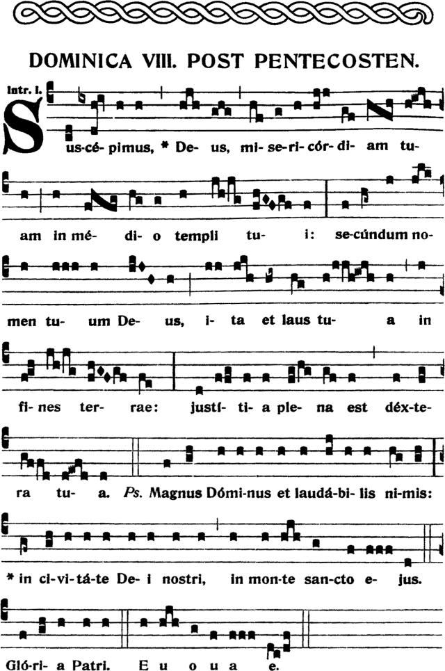 Introït - Suscepimus Deus misericordiam tuam - 1er ton