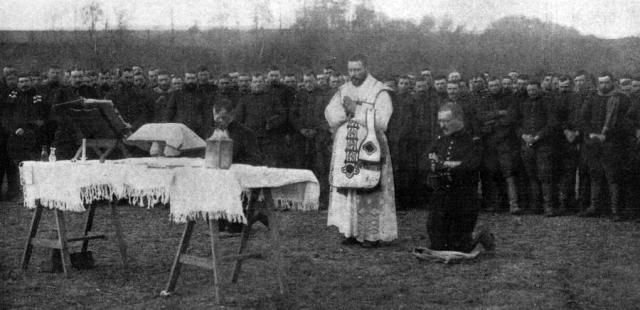 La messe au front pour les troupes françaises - New York Times du 14 février 1915