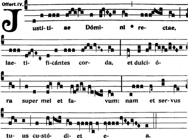 Offertoire - Justitiæ Domini rectæ - ton 4