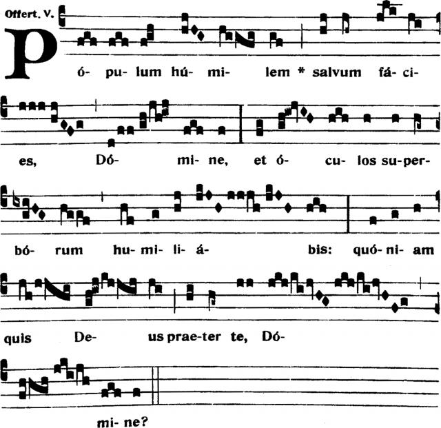 Offertoire - Populum humilem - ton 5