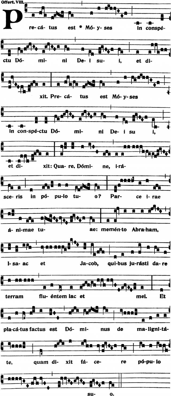 Offertoire - Precatus est Moyses - ton 8