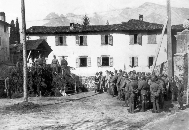 messe sur le front italien en 1917