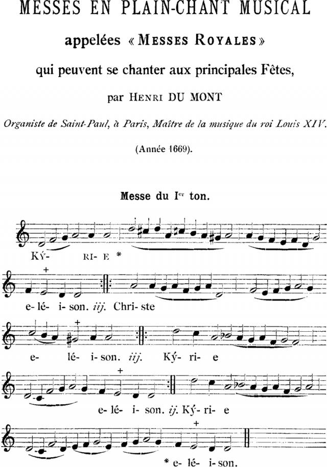 01 - Messe royale du Ier ton d'Henry du Mont - Kyrie