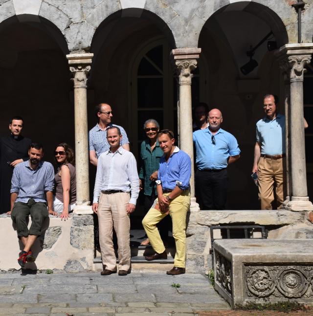 16 - Dans le cloître du chapitre de la cathédrale de Gênes, devenu Musée diocésain