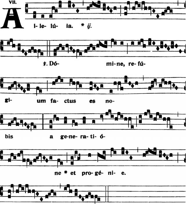 Alleluia - Domine refugium factum es nobis - ton 7