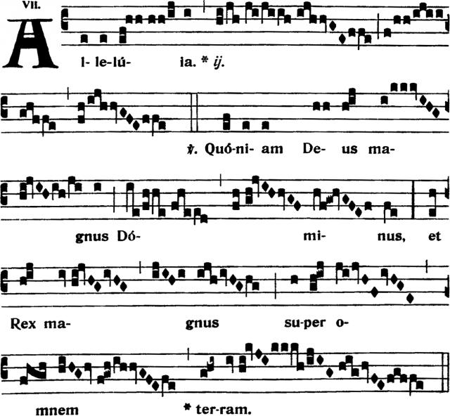 Alleluia - Quoniam Deus magnus Dominus - ton 7