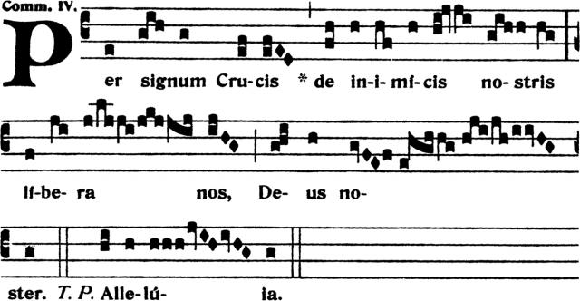 Communion - Per signum Crucis - ton 4