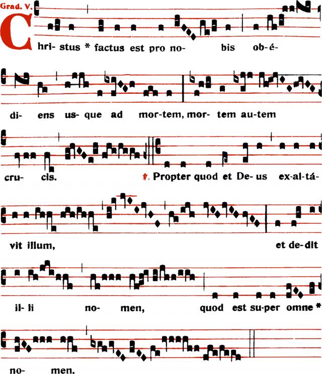 Graduel - Christus factus est pro nobis - ton 5