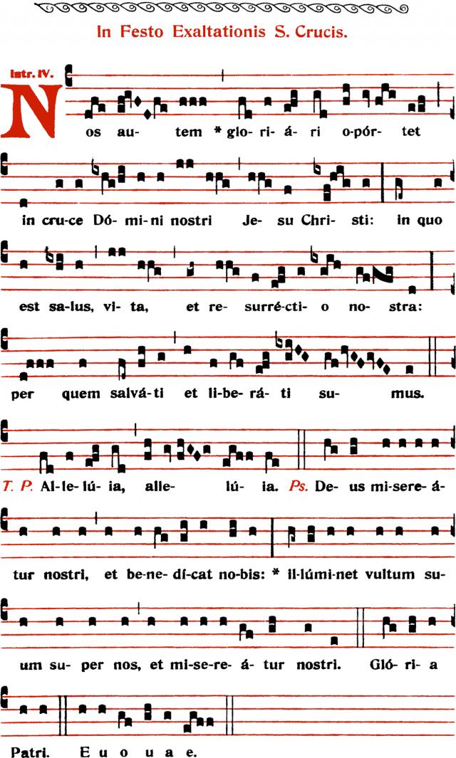 Introït - Nos autem gloriari oportet - ton 4