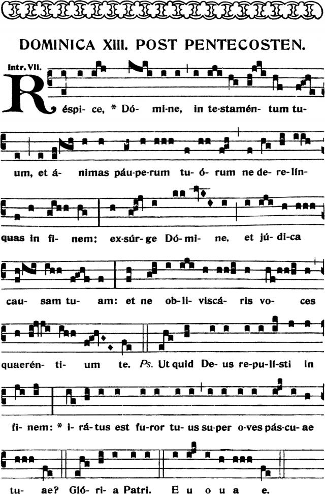 Introït - Respice Domine in testamentum tuum - ton 7
