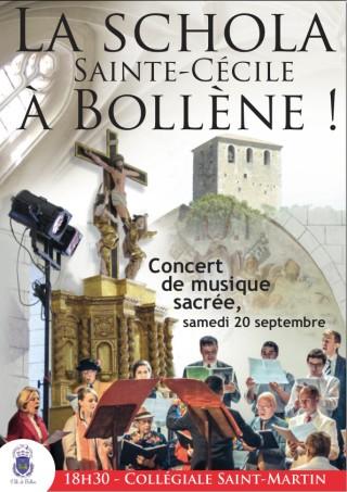 La Schola Sainte Cécile à Bollène - affiche de la Mairie