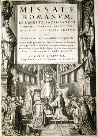 Missale Romanum de saint Pie V