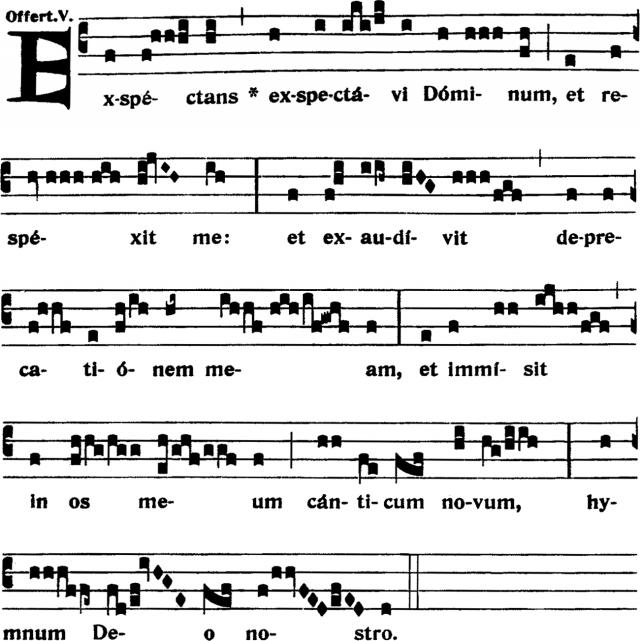 Offertoire - Exspectans exspectavi Dominum - ton 5