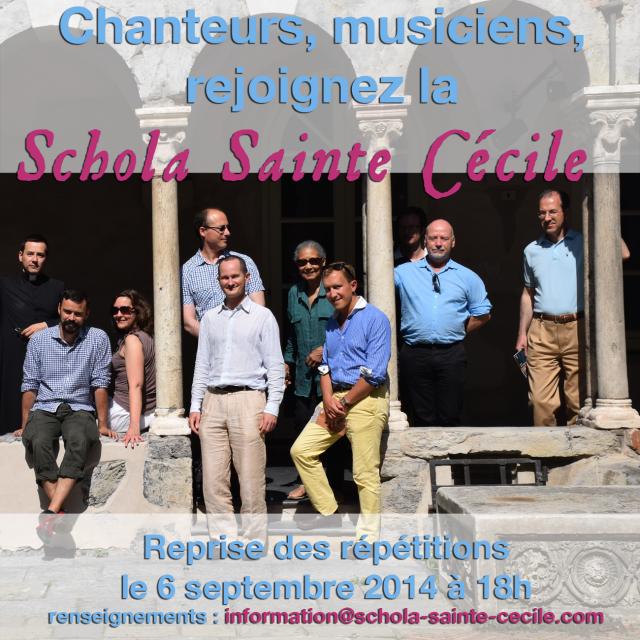 Rejoignez la Schola Sainte Cécile 01