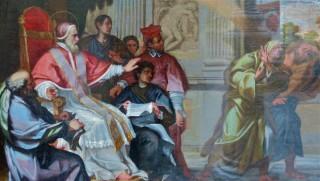 Saint Pie V chassant les heretiques