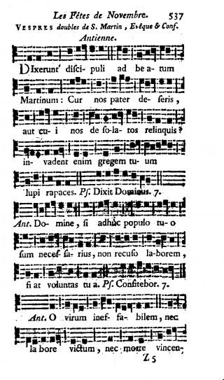 Vêpres de saint Martin en plain-chant d'Avignon