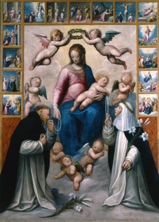 Guglielmo Caccia (Il Moncalvo), Notre-Dame du Rosaire, circa 1608