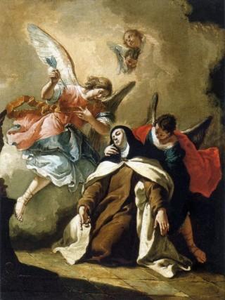 La Transverbération du cœur de sainte Thérèse d'Avila par Francesco Fontebasso