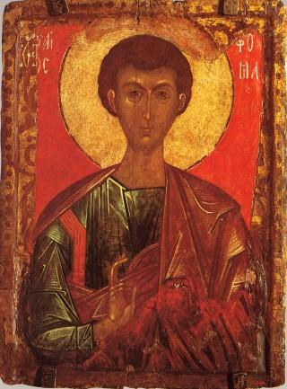Saint Thomas apôtre - école russe du XIVème siècle - Musée russe de Saint-Pétersbourg