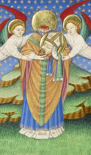 saint Denis portant sa tête - Maître de Sir John Fastoff (c. 1430 - 1440), Getty Museum