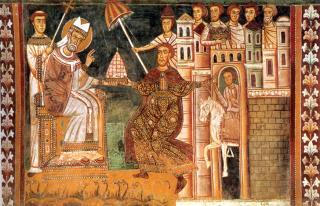 Donation de saint Constantin au pape saint Sylvestre