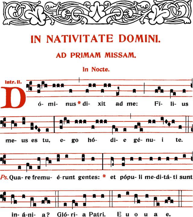 Introït - Dominus dixit ad me - ton 2