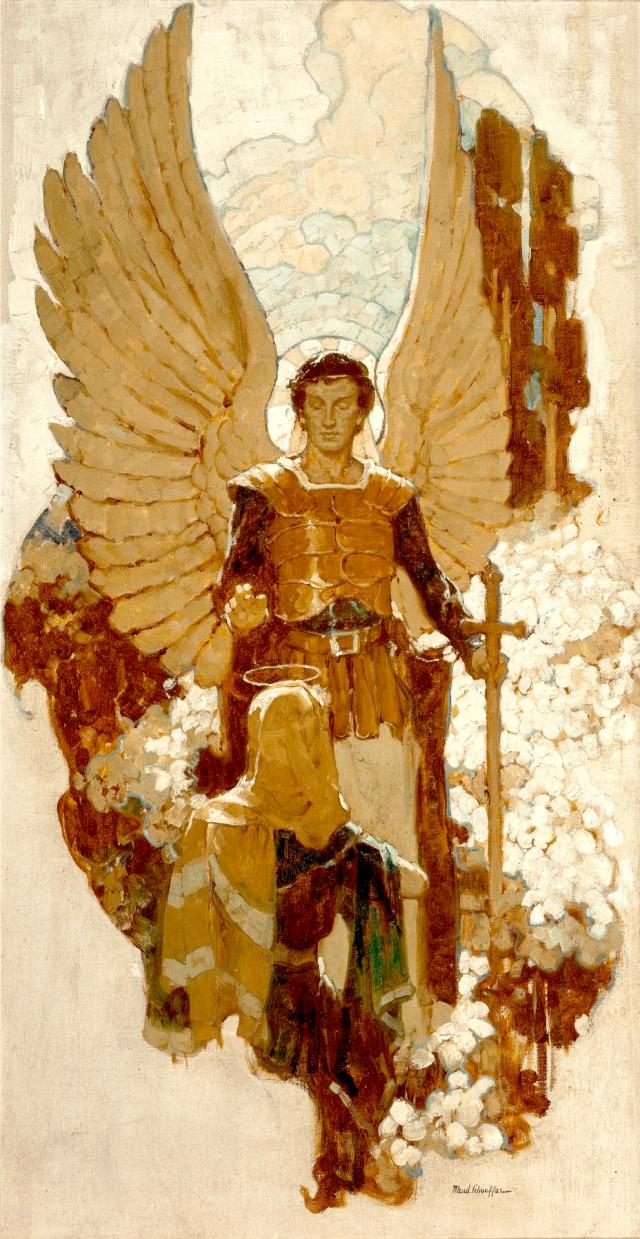 L'Annonciation par Mead Schaeffer (1898–1980)