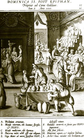 2nd dimanche après l'Epiphanie - les noces de Cana
