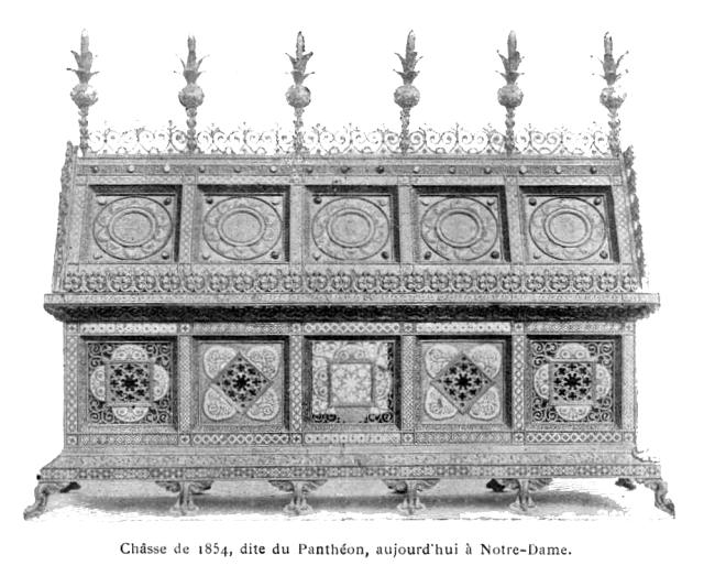 Châsse de 1854, dite du Panthéon, aujourd'hui à Notre-Dame.