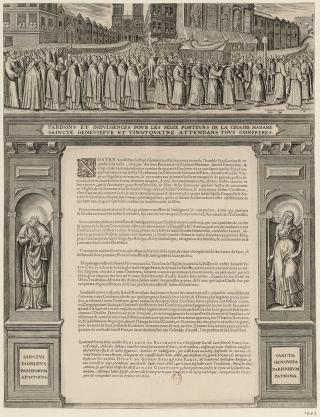 Indulgences pour les porteurs de la châsse de sainte Geneviève et pour leurs attendants