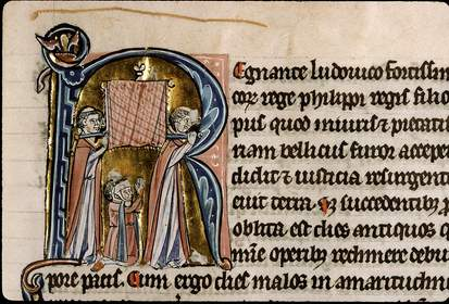 Procession de la châsse de sainte Geneviève pour lutter contre le mal des Ardents (1130).
